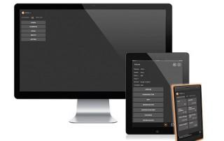 Anzeige einer responsiven Anwendung auf einem Desktop, Tablet und Smartphone