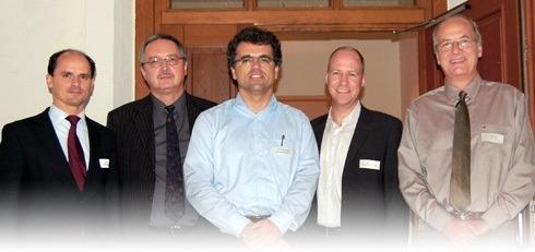 Die Referenten und Gastgeber beim IT-Meeting in Hildesheim
