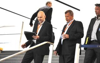 Helge Sanden und Jörg van Heyst auf der eEvolution Konferenz 2014