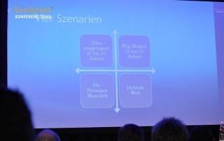 Eine Präsentationsfolie der eEvolution Konferenz 2015