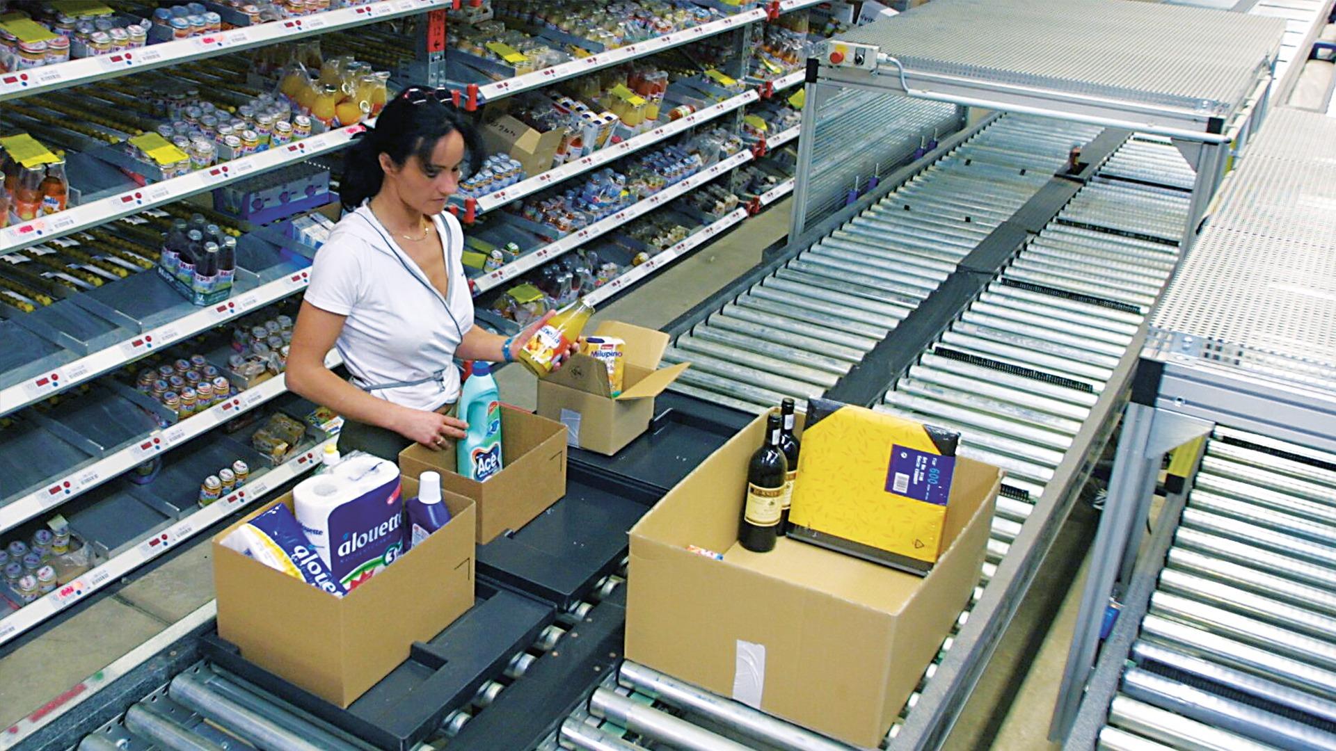Versandvorbereitung im Rossmann Online Shop